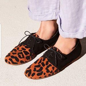 NIB Free People Coastal Saddle Shoe in Leopard